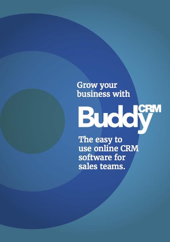 BuddyCRM sales leaflet 2016 front cover image