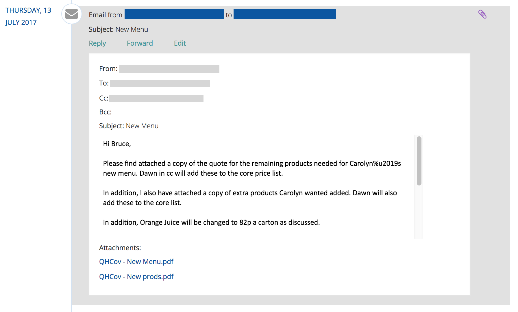 buddycrm email with attachments