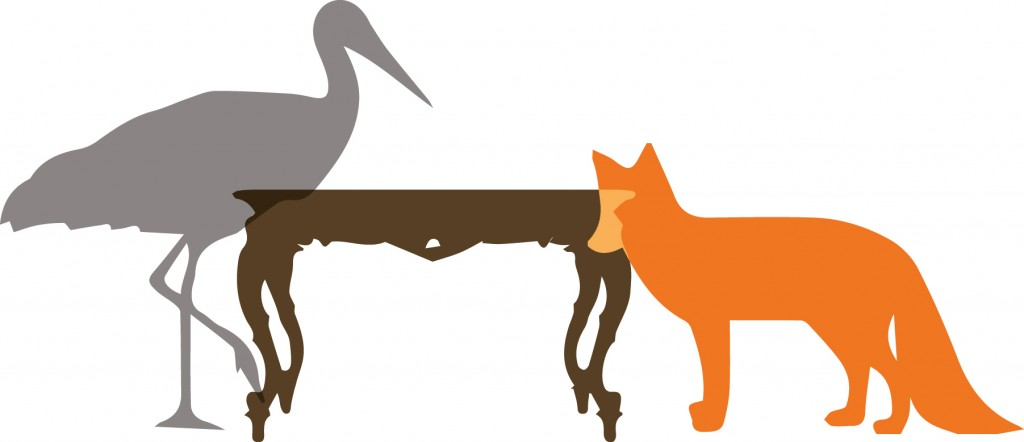 crm fables - the fox and the stork image