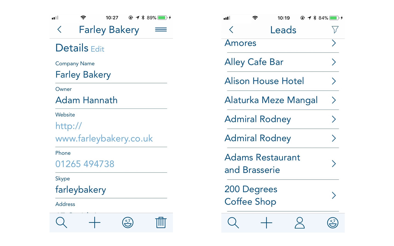 BuddyCRM account records show on mobile ios app