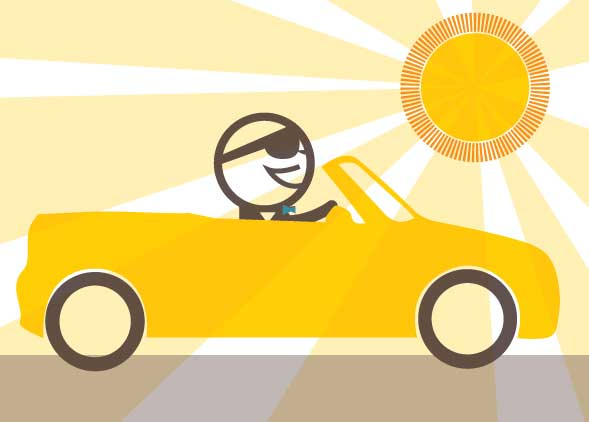 Choose a convertible car for your sales team - because Sunshine
