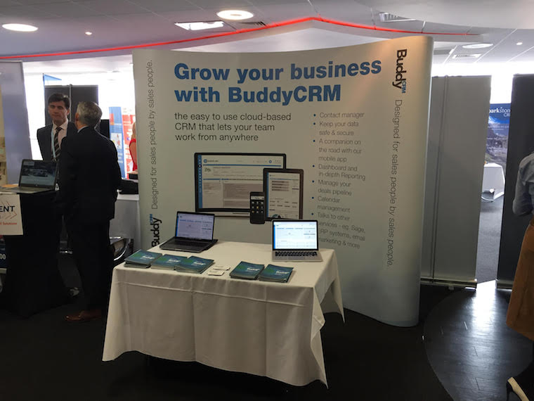The BuddyCRM stand at IT Showcase