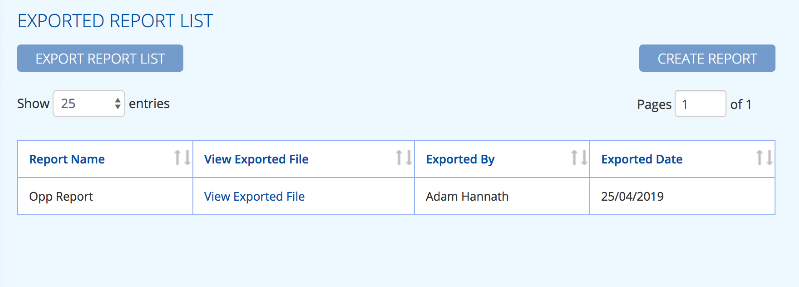 Export your report list in BuddyCRM image