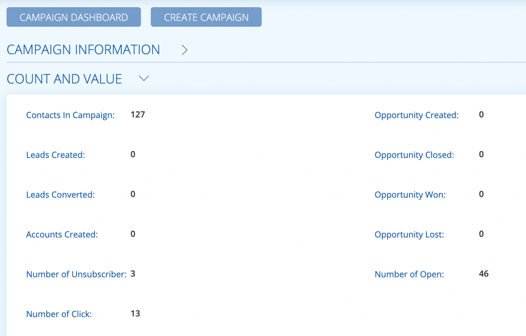 Marketing Campaign Dashboard Results